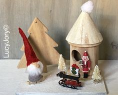 Dachshunds and Gnomes Christmas Village Home by MaxMinnieandMe