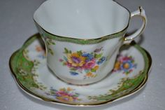Floral Tea Cup Vintage Teacup and Saucer Royal by SimplyChina, $22.00