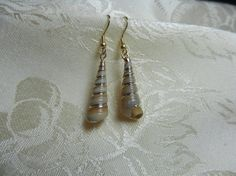 Gold Plated Tower Shell with Hypoallergenic Wires by TheSaltyShell, $16.00