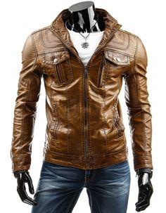 """Giacca in pelle da uomo """"Hack 619"""" http://giaccheinpelleuomo.com/giacche-in-ecopelle-homo/79-giacca-in-pelle-da-uomo-hack-619.html"""