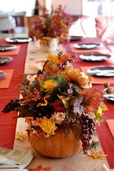 idées de déco de table en couleurs d`automne