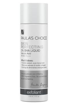 Free shipping and returns on Paula's Choice 'Skin Perfecting' 2% BHA Liquid at Nordstrom.com. Rapidly exfoliate your skin's surface…