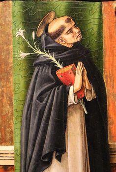Carlo Crivelli - San Domenico - dettaglio pannello Pala di San Pietro di Muralto - 1488-1489 - Maastricht, Bonnefantenmuseum