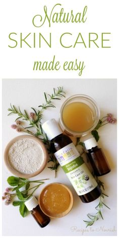 Natural Skin Care Made Easy ... DIY Natural Skin Care can be so easy! Ditch the toxic chemical skin care and make your own instead. {DIY Face Masks, Face Moisturizer & Face Wash included}   Recipes to Nourish