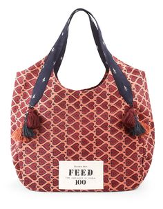 Orange FEED India Bag...| achel Roy and FEED Projects Founder and CEO Lauren Bush Lauren introduce this limited-edition tote bag, the FEED 100 India Bag, created to help fight child hunger in India. For every bag sold, 100 school meals will be provided to children Lord and Taylor