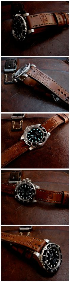 Rolex Sub on 1964 Swiss Ammo strap by Dangerous9straps