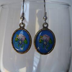 Vintage Look Rose Earrings by misslonabear01 on Etsy, $4.00