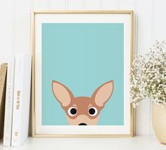Chihuahua Art Print, Chihuahua Art, Instant Download, Printable Dog, Chihuahua Lovers Print, Chihuah Chihuahua Art, Printable Wall Art, Dog Lovers, Printables, Art Prints, Etsy, Design, Animals, Products