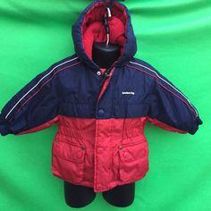 LONDON FOG boy's fashion blue red hoodie warm outerwear jacket size--12M   eBay
