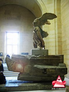 The Louvre Paris Winged Victory of  Samothrace.