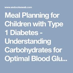 type 1 diabetes meal planner