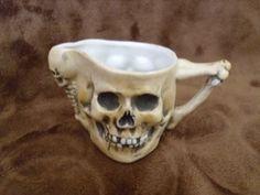 RARE Antique Late 1800 039 s Skulls Fine Porcelain Teapot Tea Cup Saucer Amp Creamer | eBay