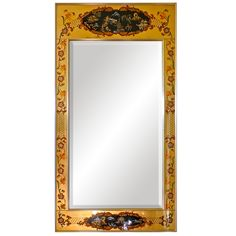 La Barge Reverse Painted and Gilt Rectangular Mirror   From a unique collection of antique and modern wall mirrors at http://www.1stdibs.com/furniture/mirrors/wall-mirrors/
