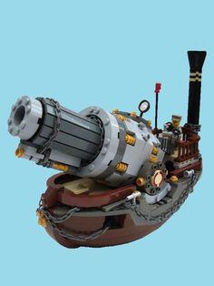 LEGO Steampunk Boat Gunship