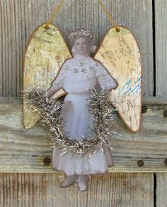 ☆ White Christmas Wonderland ☆ collaged christmas angel French Christmas, Christmas Love, Christmas Angels, Vintage Christmas, Merry Christmas, Handmade Christmas Crafts, Christmas Cards To Make, Xmas Crafts, Paper Crafts