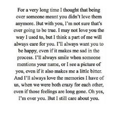 Don't know about the being over you part but the caring part...heck yes! That is so perfectly said.