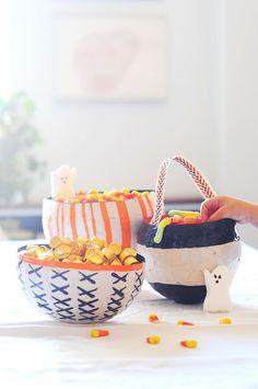 Revamp the Halloween candy bowl. #DIY #halloween