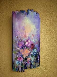 Wood Pallet Art, Pallet Painting, Tole Painting, Painting On Wood, Painting & Drawing, Driftwood Art, Painting Inspiration, Art Projects, Drawings