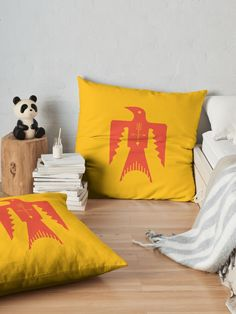 'Crow' Floor Pillow by Bad Box Floor Pillows, Throw Pillows, Native American Symbols, Native Americans, Crow, Art Boards, Nativity, Classic T Shirts, Cushions