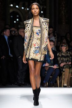 Balmain does it again - bright little dresses and gorgeous structured-shoulder jackets. RTW FA12.
