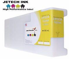 Epson UltraChrome GS Compatible 950ml Single Cartridge (T624400) - Yellow #JeTechInk