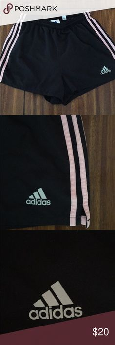 Adidas Shorts In very great condition. No stains or holes . The stripes are light pink. Size M Adidas Shorts