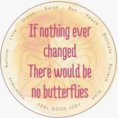 19/21 What a beautiful quote which shares a feeling of embracing change, for with change comes new beginnings and experiences.