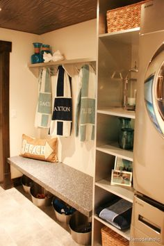 ****BEST*** small space layout for mudroom Fabulous Laundry room design ideas from @Remodelaholic (10 of 103)