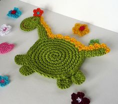 Crochet Dragon Pattern - Coaster, DIY