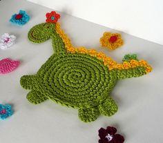Crochet Dragon Pattern  Coaster DIY by MonikaDesign on Etsy