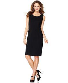 Kasper Petite Dress, Sleeveless Scoop Neck Sheath - Wear to Work - Women - Macy's