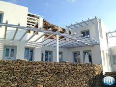 Villa Lydi Vacation rental in Andros Andros Island Aegean - Cyclades Greece Advert No. Andros Greece, Private Property, Entrance, Pergola, Villa, Outdoor Structures, Island, Vacation, Outdoor Decor