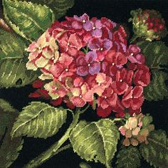 "Needlepoint & Needlepunch - Hydrangea Bloom Needlepoint Kit - 14""X14""…"