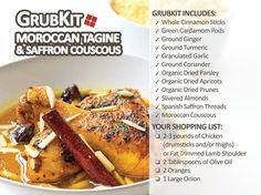 Moroccan Tagine with Saffron Couscous Recipe Kit via GrubKit.com