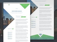 Design  By FInspiration  New Ms Word Template Design For A