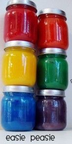 Terrific homemade finger paint recipe...