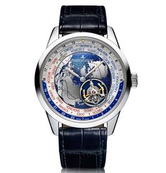 Pre-SIHH 2017: Jaeger-LeCoultre - Geophysic Tourbillon Universal Time. After the Geophysic True Second and the Geophysic Universal Time, Jaeger-LeCoultre expands the line with the Geophysic Tourbillon Universal Time, the first flying-tourbillon worldtimer produced by the brand. The Jaeger-LeCoultre Geophysic Tourbillon Universal Time is a limited edition of just 100 pieces. More on this model and its movement will be unveiled on occasion of the upcoming Salon International de la Haute…