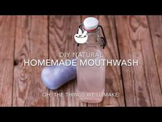 Refresh, cleanse, and heal with this natural, homemade mouthwash that is alcohol free, inexpensive, and super easy to make yourself!