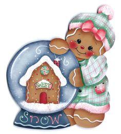 Gingers Snowglobe Gingerbread Painting par GingerbreadCuties