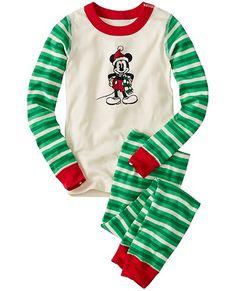 Kids Disney Mickey Mouse Long John Pajamas In Organic Cotton from #HannaAndersson.