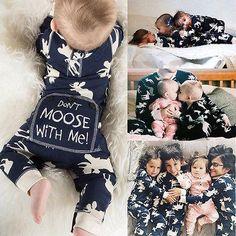 Long Sleeve Christmas Moose Jumpsuit Rompers