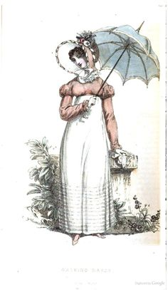 Walking Dress from from Ackermann's Repository of the Arts October 1819