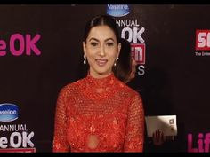 Gauhar Khan at the red carpet of 21st Annual Life Ok Screen Awards 2015.