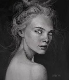 ArtStation - Female Profile Sketch 12.25.14, Tim Von Rueden