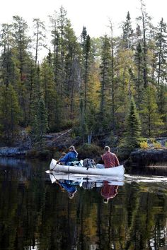 Canoeing in the wilderness (via Modern Man)