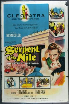 MovieArt Original Film Posters - SERPENT OF THE NILE (1953) 748, $25.00 (http://www.movieart.com/serpent-of-the-nile-1953-748/)