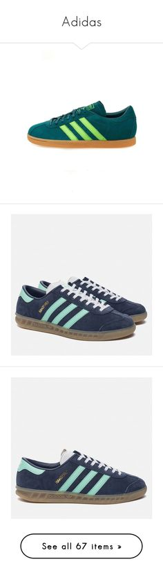 """""""Adidas"""" by lorika-borika on Polyvore featuring shoes, sneakers, green, sports shoes, adidas originals shoes, striped flat shoes, sport sneakers, flat shoes, adidas footwear и green shoes"""