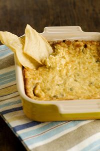 Three Cheese Hot Artichoke Dip..Celebrate Nat'l Chip and Dip Day!