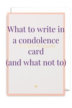 How To Write A Condolence Letter  Condolence Letter Condolences