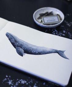 """Aquarelles """"Waves"""" & """"Whales"""" par l'artiste Evelyn Kritler - Journal du Design"""